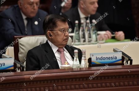 Indonesia's Vice-President Jusuf Kalla attends the Second Belt and Road Forum for International Cooperation (BRF) in Beijing, China, 27 April 2019.