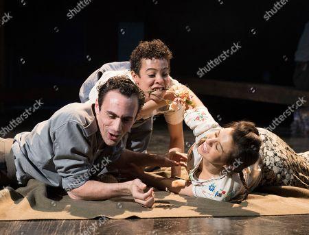 Alex Mugnaioni as Captain Corelli, Elizabeth Mary Williams as Psipsina, Madison Clare as Pelagia