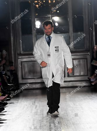 Stock Image of Johnson Hartig on the catwalk