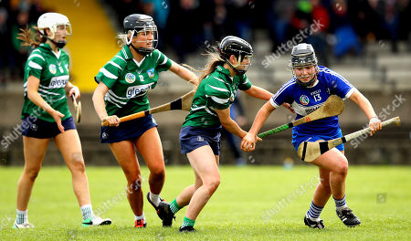 Stock Picture of Laois vs Limerick. Laois' Lucy O'Connor and Megan Ryan of Limerick