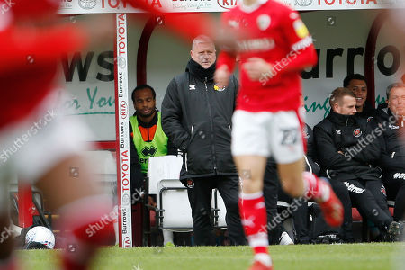 Blackpool Manager Terry McPhillips during the EFL Sky Bet League 1 match between Barnsley and Blackpool at Oakwell, Barnsley