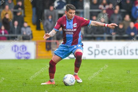 Adam Hammill of Scunthorpe United (47) in action during the EFL Sky Bet League 1 match between Scunthorpe United and Bradford City at Glanford Park, Scunthorpe
