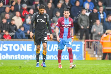 Adam Hammill of Scunthorpe United (47) looks towards the Scunthorpe United bench during the EFL Sky Bet League 1 match between Scunthorpe United and Bradford City at Glanford Park, Scunthorpe