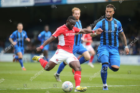 Igor Vetokele of Charlton gets ready to take a shot at the Gillingham goal during Gillingham vs Charlton Athletic, Sky Bet EFL League 1 Football at The Medway Priestfield Stadium on 27th April 2019