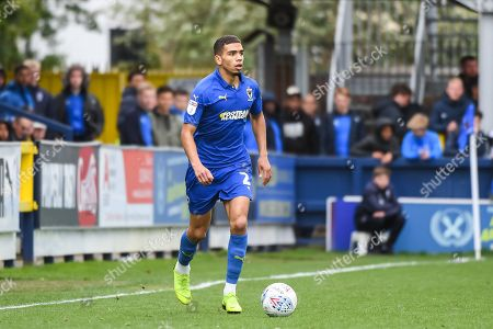 AFC Wimbledon Defender Tennai Watson (2) during the EFL Sky Bet League 1 match between AFC Wimbledon and Wycombe Wanderers at the Cherry Red Records Stadium, Kingston