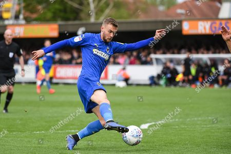AFC Wimbledon Midfielder Shane McLoughlin (38) during the EFL Sky Bet League 1 match between AFC Wimbledon and Wycombe Wanderers at the Cherry Red Records Stadium, Kingston