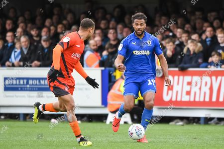 AFC Wimbledon Midfielder Tom Soares (19) during the EFL Sky Bet League 1 match between AFC Wimbledon and Wycombe Wanderers at the Cherry Red Records Stadium, Kingston