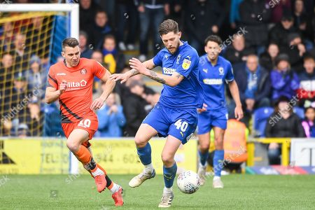 AFC Wimbledon Midfielder Anthony Wordsworth (40) during the EFL Sky Bet League 1 match between AFC Wimbledon and Wycombe Wanderers at the Cherry Red Records Stadium, Kingston