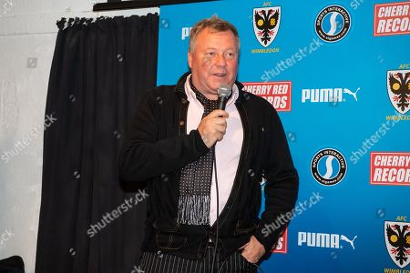 AFC Wimbledon Manager Wally Downes speaks after the EFL Sky Bet League 1 match between AFC Wimbledon and Wycombe Wanderers at the Cherry Red Records Stadium, Kingston