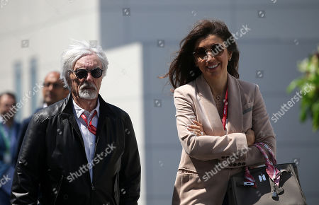 27.04.2019, Baku City Circuit, Baku, FORMULA 1 SOCAR AZERBAIJAN GRAND PRIX 2019 ,  Bernie Ecclestone and wife Fabiana Flosi