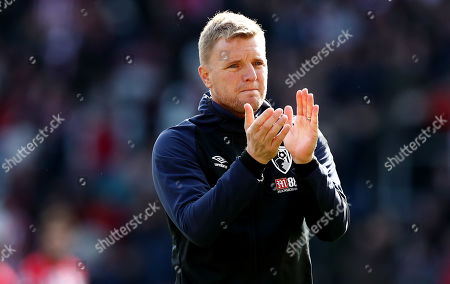 Bournemouth Manager Eddie Howe applauds at full time.