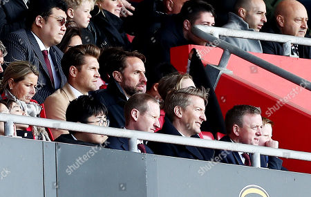 England Manager Gareth Southgate watches on.