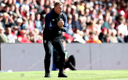 Bournemouth Manager Eddie Howe shouts.