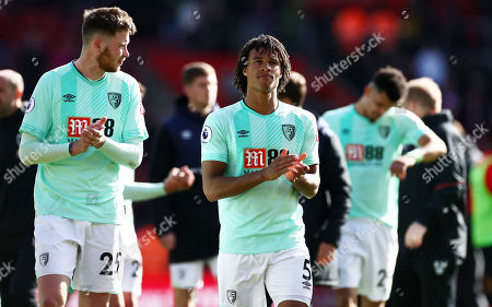 Stock Picture of Nathan Ake of Bournemouth and team mates applaud.