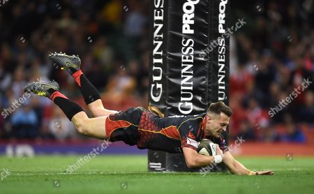 Editorial photo of Dragons v Scarlets - Guinness PRO14 - Judgement Day - 27 Apr 2019