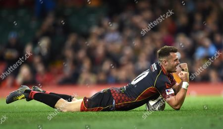 Editorial picture of Dragons v Scarlets - Guinness PRO14 - Judgement Day - 27 Apr 2019