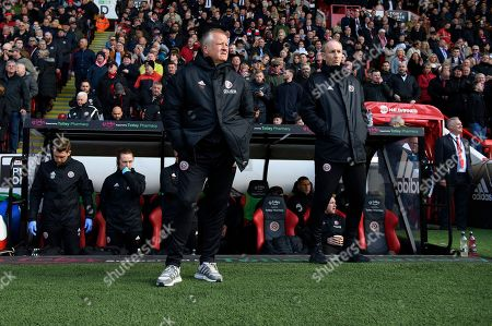 Chris Wilder manager of Sheffield United and Alan Knill.