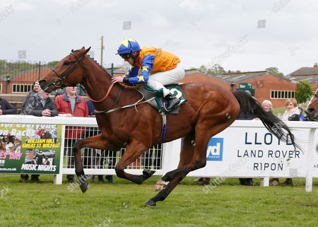 MAKING MIRACLES and Joe Fanning win the Visit attheraces.com Handicap for trainer Mark Johnson RIPON RACECOURSE