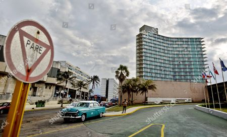 Stock Photo of A view of the Riviera hotel, in Havana, Cuba, 27 April 2019. The US decision to give the green light to lawsuits against multinational companies who operate in Cuban expropriated land or buildings threatens to dissuade foreign investment in the Caribbean country.