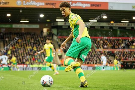 Norwich City defender Jamal Lewis (12)  during the EFL Sky Bet Championship match between Norwich City and Blackburn Rovers at Carrow Road, Norwich