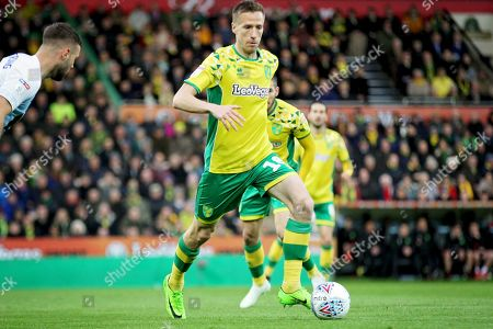 Norwich City midfielder Marco Stiepermann (18)  during the EFL Sky Bet Championship match between Norwich City and Blackburn Rovers at Carrow Road, Norwich