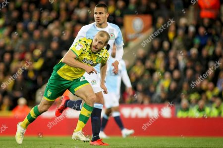 Norwich City forward Teemu Pukki (22) goes on a run during the EFL Sky Bet Championship match between Norwich City and Blackburn Rovers at Carrow Road, Norwich
