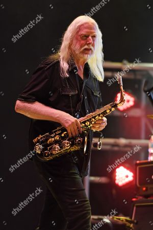 Editorial photo of Edgar Winter in concert,The Beatles on the Beach music festival Florida, USA - 26 Apr 2019