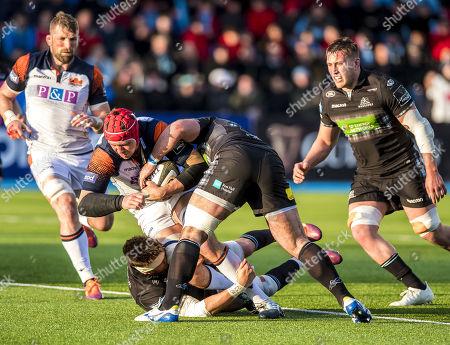 Glasgow Warriors vs Edinburgh . Edinburgh's Grant Gilchrist