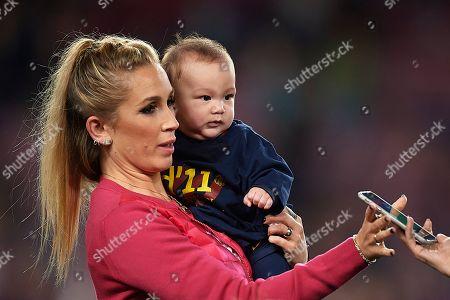 Luis Suarez of FC Barcelona wife Sofia Balbi