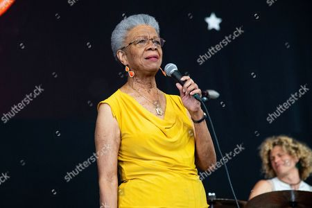 Stock Photo of Germaine Bazzle performs at the New Orleans Jazz and Heritage Festival, in New Orleans