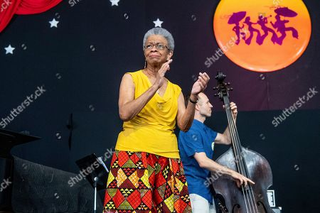 Stock Picture of Germaine Bazzle performs at the New Orleans Jazz and Heritage Festival, in New Orleans