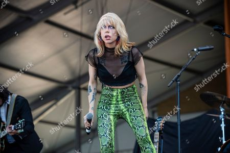 Alynda Lee Segarra of Hurray for the Riff Raff performs at the New Orleans Jazz and Heritage Festival, in New Orleans