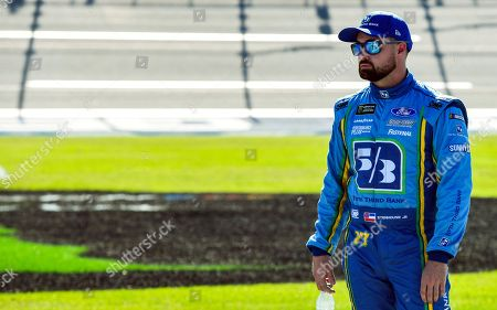 NASCAR Cup Series driver Ricky Stenhouse Jr. (17) awaits the final qualifying round for a NASCAR Cup Series auto race at Talladega Superspeedway, in Talladega, Ala