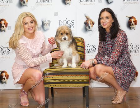 Olivia Cox and Elle Rogan with dog
