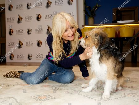 Gaby Roslin and dog