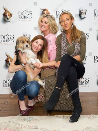 Pipa Tomson, Anthea Turner and guest with dog