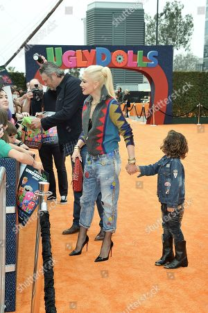 "Gwen Stefani, Apollo Bowie Flynn Rossdale attend the World Premiere of ""UglyDolls"" at Regal Cinema LA Live, in Los Angeles"