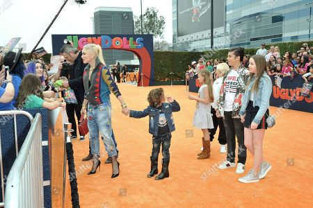 "Stock Photo of Gwen Stefani, Apollo Bowie Flynn Rossdale attend the World Premiere of ""UglyDolls"" at Regal Cinema LA Live, in Los Angeles"