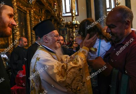 Ecumenical Patriarch and Archbishop of Constantinople Bartholomew I (C), a spiritual leader of the Orthodox Christian around the world, attends the Easter ceremony at St George Church in Istanbul, Turkey, 28 April 2019. Orthodox Christian believers mark the Holy Week of Easter in celebration of the crucifixion and resurrection of Jesus Christ. The Eastern Orthodox world celebrates Easter Day according to the old Julian calendar.