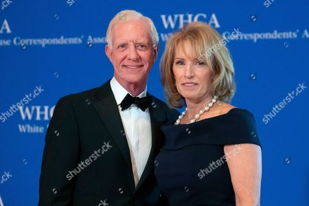 "Chesley Sullenberger, Sully, Lorrie Sullenberger. Chesley ""Sully"" Sullenberger and Lorrie Sullenberger attend the 2019 White House Correspondents' Association dinner at the Washington Hilton, in Washington"