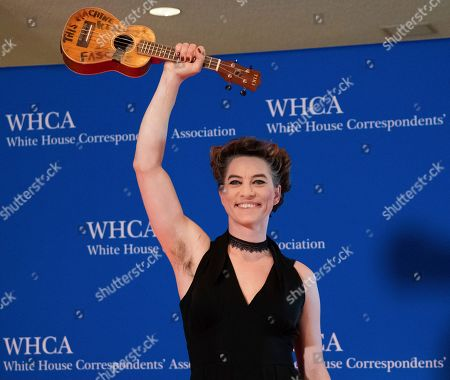 Amanda Palmer attends the 2019 White House Correspondents' Association dinner at the Washington Hilton, in Washington