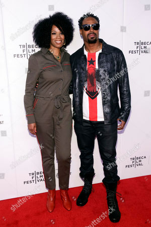 "Kim Wayans, Shawn Wayans. Actors Kim Wayans, left, and Shawn Wayans attend the screening for ""Tribeca TV : In Living Color - 25th Anniversary reunion from the finale"" during the 2019 Tribeca Film Festival at Spring Studios, in New York"