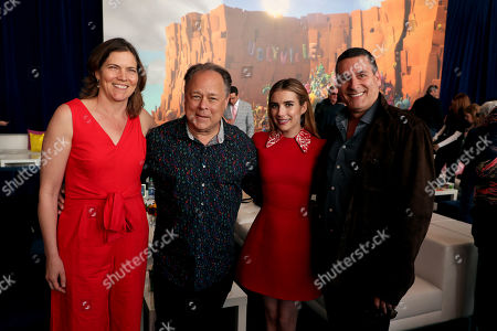 Stock Picture of Jane Hartwell, Producer, Kelly Asbury, Director, Emma Roberts, Oren Aviv, Producer,