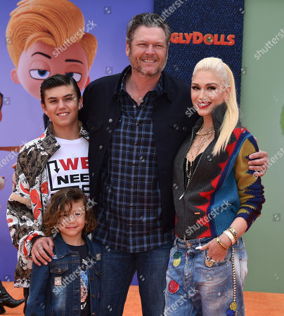 Kingston Rossdale, Apollo Rossdale, Blake Shelton and Gwen Stefani