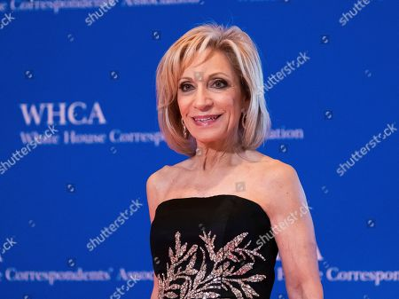 Andrea Mitchell attends the 2019 White House Correspondents' Association dinner at the Washington Hilton, in Washington