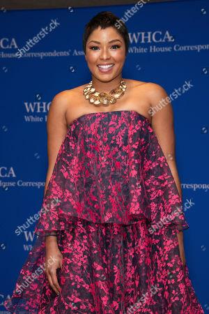 Alicia Quarles attends the 2019 White House Correspondents' Association dinner at the Washington Hilton, in Washington