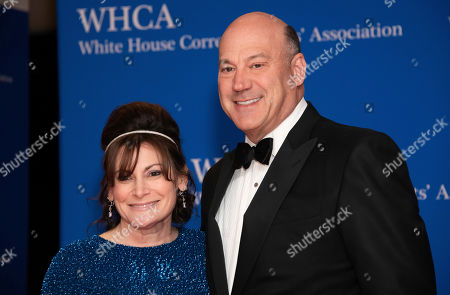 Stock Image of Lisa Pevaroff-Cohn, Gary Cohn. Lisa Pevaroff-Cohn and Gary Cohn attend the 2019 White House Correspondents' Association dinner at the Washington Hilton, in Washington