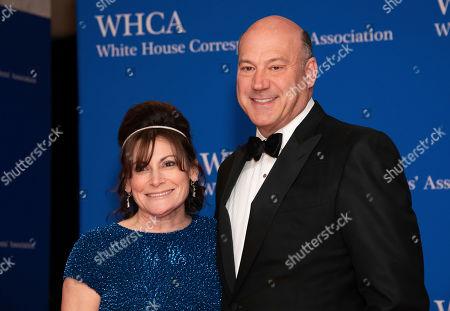 Lisa Pevaroff-Cohn, Gary Cohn. Lisa Pevaroff-Cohn and Gary Cohn attend the 2019 White House Correspondents' Association dinner at the Washington Hilton, in Washington