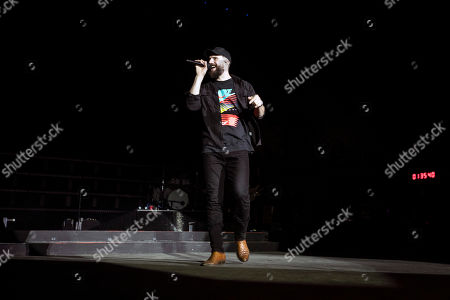 Sam Hunt performs on stage during the Stagecoach Festival in Indio near Palm Spring, California, USA, 27 April 2019. The festival runs from 26 to 28 April.