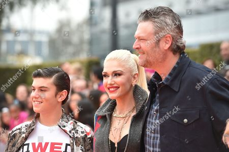 Kingston Rossdale, Gwen Stefani, Blake Shelton
